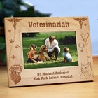 Personalized Veterinarian Wood Picture Frames