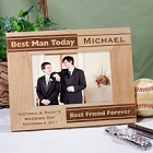 Laser Engraved Best Man Picture Frames