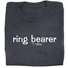 Personalized Ring Bearer Black Youth T-shirt