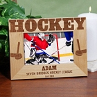 Personalized Hockey Wood Picture Frames