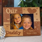 Our Hearts Belong To Daddy Personalized Picture Frames