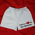 I Have A Heart On Mens White Personalized Boxer Shorts