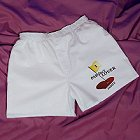 Par-Fect Lover Men's White Personalized Golf Boxer Shorts