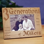 Family Generations Personalized Picture Frame