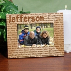 Family Name Personalized Picture Frames