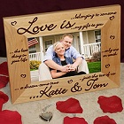 Love is... Laser Engraved Wood Picture Frame