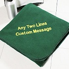 Personalized Embroidered Fleece Throw Blankets
