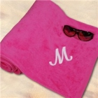 Embroidered Pink Beach Towels