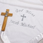 Personalized Christening Fleece Baby Blanket