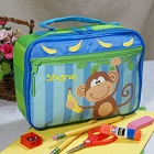 Embroidered Monkey Lunch Box