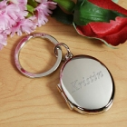 Engraved Bridesmaid Silver Photo Locket Keyring