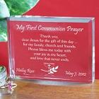 My First Communion Engraved Prayer Keepsake
