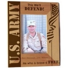 Personalized Vertical U.S. Army Wood Picture Frames