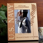 Personalized Vertical U.S. Navy Wood Picture Frame