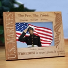 Personalized U.S. Marines Wood Picture Frames