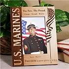 Personalized Vertical U.S. Marines Wood Picture Frame