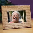 We Will Meet Again Personalized Memorial Wood Picture Frames