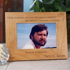 Memory Becomes A Treasure Personalized Memorial Wood Picture Frames