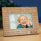 In Loving Memory Personalized Memorial Wood Picture Frames
