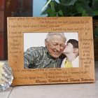 Always Remembered Personalized Memorial Wood Picture Frames