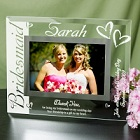 Engraved Bridesmaid Glass Picture Frames