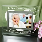 In Our Hearts Forever Personalized Memorial Glass Picture Frames