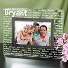 Family Name Personalized Glass Picture Frames