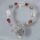 Engraved Grandmother Heart Bracelets