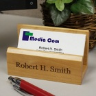 Personalized Maple Business Card Holder