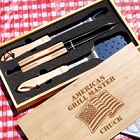 Patriotic Personalized American Grill Master Barbeque Grill Sets