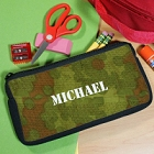 Army Camoflauge Personalized School Pencil Case