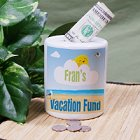 Personalized Vacation Fund Jars