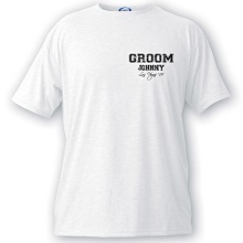 Personalized Wedding Party Collegiate T-shirts