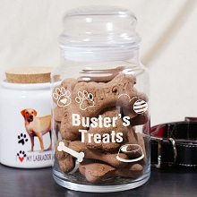 Engraved Doggie Treats Glass Jars