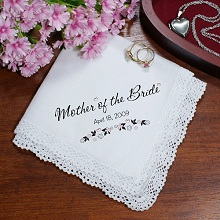 Personalized Wedding Bridal Party Keepsake Handkerchiefs