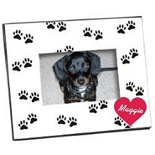 Personalized Paw Prints Printed Pet Picture Frames