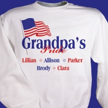 USA American Pride Personalized Patriotic Sweatshirts
