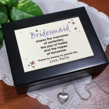 Share the Memories Personalized Bridesmaids Keepsake Box