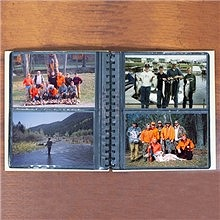 Personalized Fishing Memories Wood Photo Albums