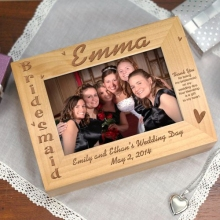 Engraved Bridesmaids Wedding Photo Keepsake Box