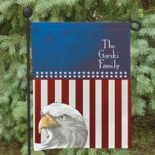 American Eagle Personalized Garden Flags