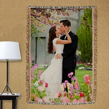 Personalized Wedding Photo Tapestry Throw Blankets
