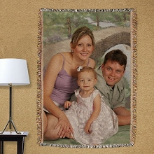 Personalized Family Photo Tapestry Throw Blankets