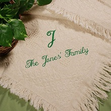 Family Name Personalized Afghan