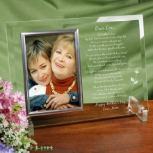 To My Daughter Personalized Beveled Glass Picture Frames