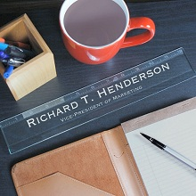 Engraved Executive Glass Ruler