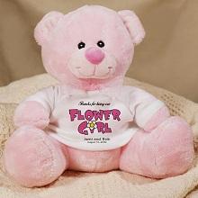 Flower Girl Personalized Teddy Bear