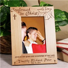 Confirmed in Christ Personalized Confirmation Wood Picture Frames