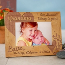 Our Hearts Belong To You Personalized Wood Picture Frames