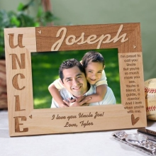 Personalized Uncle Wooden Picture Frames
